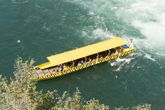 Tourist boat at Rhine Falls, Switzerland Royalty Free Stock Photos