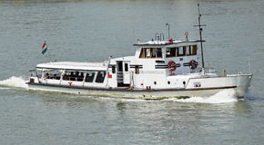 Tourist boat on the river Danube Royalty Free Stock Image