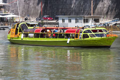 Tourist boat on River Tiber (Rome - Italy) Stock Photography