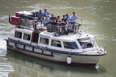 Tourist boat on River Tiber (Rome - Italy) Royalty Free Stock Photography