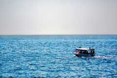 Tourist boat at sea Royalty Free Stock Photo
