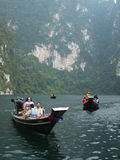 Tourist Boat at Surat thani , thailand Stock Images