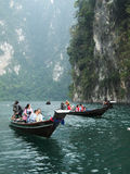 Tourist Boat at Surat thani , thailand Stock Photo