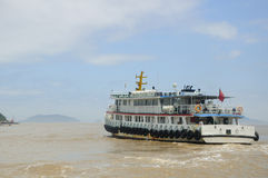 Tourist Boat to Putuoshan Stock Image