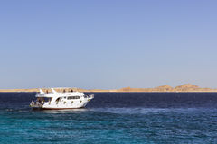 Tourist boat trip around the Sinai on the yacht, Red sea, Sharm Royalty Free Stock Photography