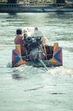 Tourist boat trips in the River Kwai. Royalty Free Stock Image