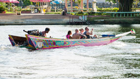 Tourist boat trips to see River Kwai. Royalty Free Stock Photography
