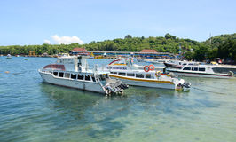 Tourist boats at Gili Meno island Royalty Free Stock Photo