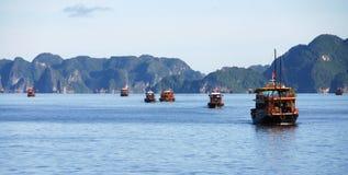 Tourist boats in Halng Bay, Vietnam Stock Photos