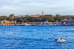 Tourist boats in Istanbul Royalty Free Stock Photo