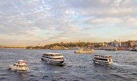 Tourist boats in Istanbul Royalty Free Stock Photography