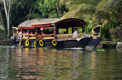 Tourist boats at Kerala backwaters,Alleppey,Kerala,India stock images