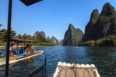 Tourist boats on the Li river Stock Photography