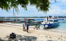 Tourist boats in Lombok, Indonesia Royalty Free Stock Images