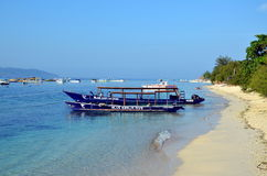 Tourist boats in the ocean Stock Photography