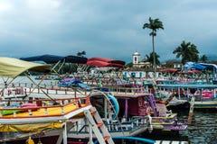 Tourist boats in Paraty, Rio de Janeiro Royalty Free Stock Photo