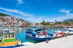 Tourist boats in the port of Alanya, Turkey. Stock Images