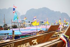 Tourist boats in Thailand 001 stock image