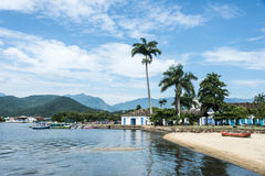 Tourist boats waiting for tourists in Paraty, state Rio de Jane Royalty Free Stock Photography