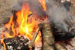 Tourist bonfire Royalty Free Stock Photography