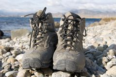 Tourist boots Stock Photography