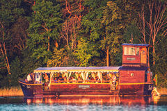 Tourist boat in Trakai, Lithuania Stock Photography