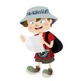 Tourist boy Stock Photography
