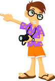 Tourist boy cartoon Royalty Free Stock Photo