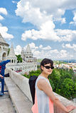 Tourist in Budapest Stock Image