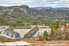 Tourist buildings in the Norwegian mountains Royalty Free Stock Photo