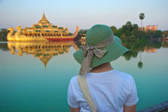 Tourist in Burma Royalty Free Stock Image