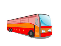 Tourist bus. On isolated background vector illustration