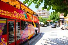 Tourist bus in Athens Royalty Free Stock Photo