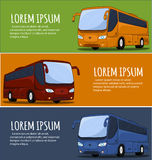 Tourist Bus Banner Stock Image