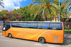Tourist bus in Barcelona Stock Photo