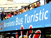 Tourist bus Barcelona, Spain Royalty Free Stock Image