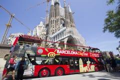 Tourist Bus in Barcelona Stock Photos