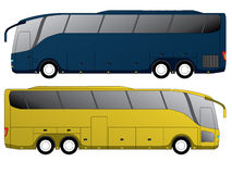 Tourist bus design with double axle Royalty Free Stock Image