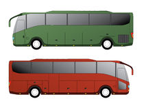Tourist bus design with single axle Stock Image