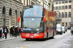 Tourist bus in Italy Stock Photography