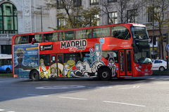 Tourist bus in Madrid, Spain Royalty Free Stock Photo