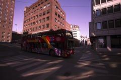 Tourist bus in Oslo stock photos