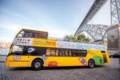 Tourist bus in Porto city Stock Photos