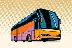 Tourist bus, public transport. Pop art retro vector illustration Stock Photo