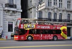 Tourist Bus In Shanghai Stock Image