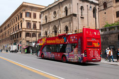 Tourist bus on street of Palermo Royalty Free Stock Image