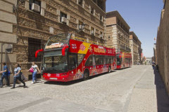Tourist bus in Toledo, Spain Royalty Free Stock Photography