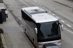 TOURIST BUS UNLAWFUL PARKING Royalty Free Stock Image