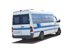 Tourist bus on white Royalty Free Stock Images