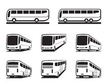 Tourist buses and coaches Royalty Free Stock Image
